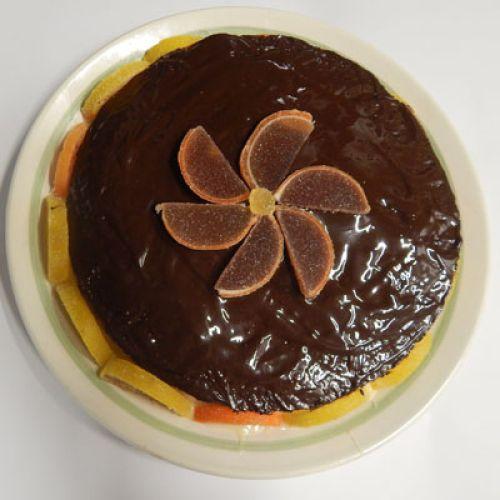 Торт с маком и мармеладом.