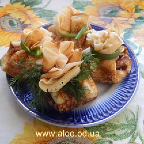 Начинка для блинов с грибами и сыром.