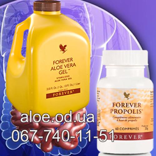 Здоровье желудочно-кишечного тракта с продукцией Форевер.