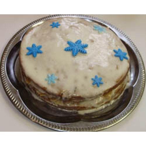 Новогодний торт «Снежинка».