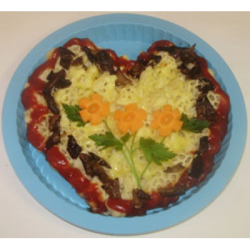 Кулинарные шедевры: Вермишелевое сердце ко дню всех Влюбленных.