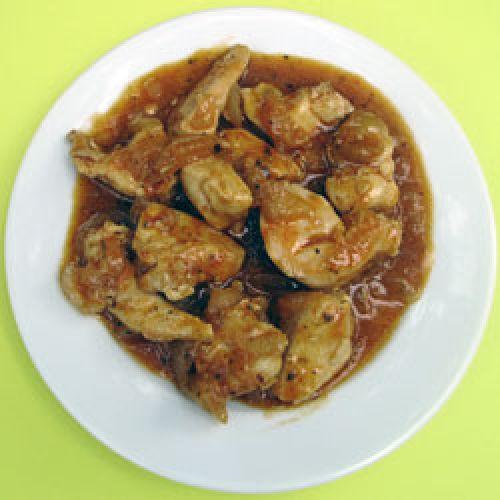 Кулинарные Шедевры: Куриное филе с коньяком.